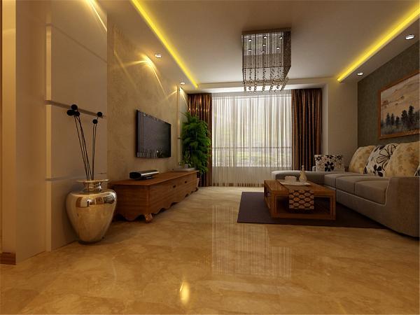 本案以深色为主,灰色的沙发,抛釉的大地砖,整体的家具色彩都是以木本色为主。家里都是读书人,不喜欢太奢华,凌乱的装修。