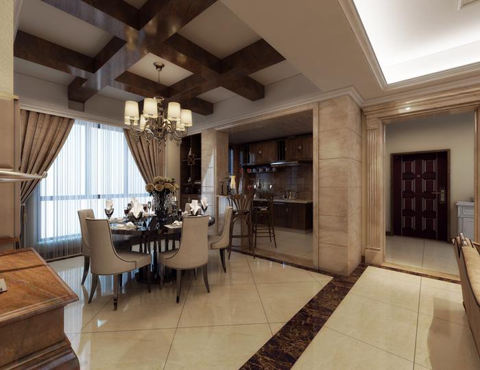 美式 餐厅图片来自玉玲珑装饰在方先生的美式风格新家的分享