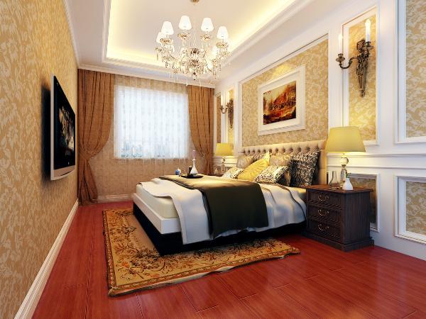 次卧室:两个次卧室均为女儿房,一个墙面采用蓝色竖条壁纸显得活泼可爱,另一个为粉色基调配白色简欧家具,整体温馨感增强。