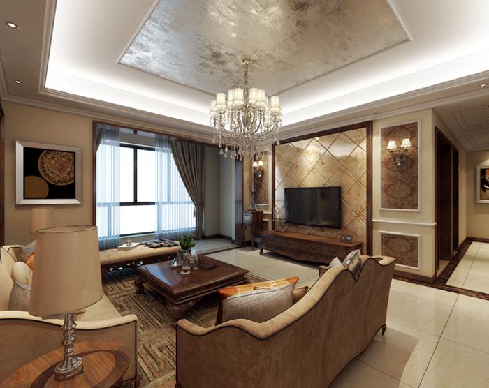 美式 客厅图片来自玉玲珑装饰在方先生的美式风格新家的分享