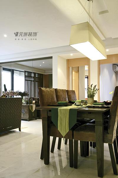 三居 南亚风情 东南亚风格 餐厅图片来自居然元洲装饰小杨在南亚风情园-130平米东南亚风格的分享