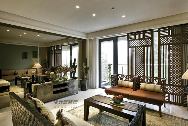 三居 南亚风情 东南亚风格 客厅图片来自居然元洲装饰小杨在南亚风情园-130平米东南亚风格的分享