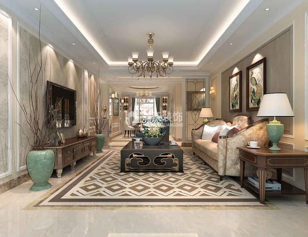 欧式 整体家装 奥北公元 客厅图片来自河北瀚沃装饰在奥北公元180㎡欧式案例的分享