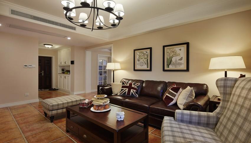 美式风格 三居 收纳 客厅图片来自美家堂装饰小刘在南湖世纪美式风格装修设计赏析的分享
