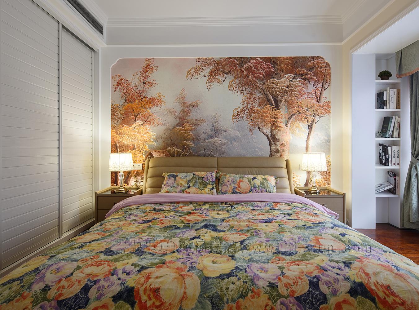 卧室图片来自鸿扬家装武汉分公司在万锦江城之白色欧风的分享