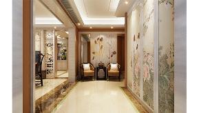 新中式 优雅 舒适 浪漫 玄关图片来自业之峰装饰旗舰店在理解的艺术的分享
