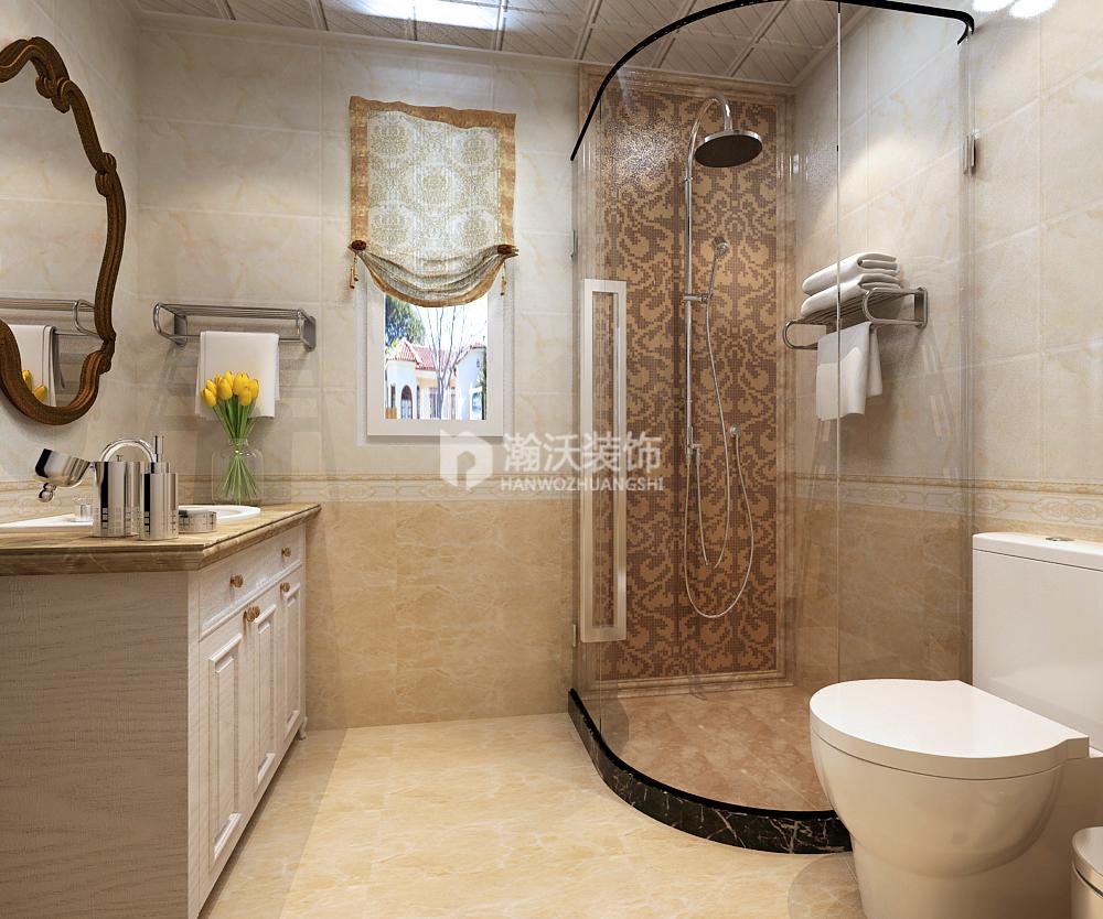 欧式 整体家装 奥北公元 卫生间图片来自河北瀚沃装饰在奥北公元180㎡欧式案例的分享
