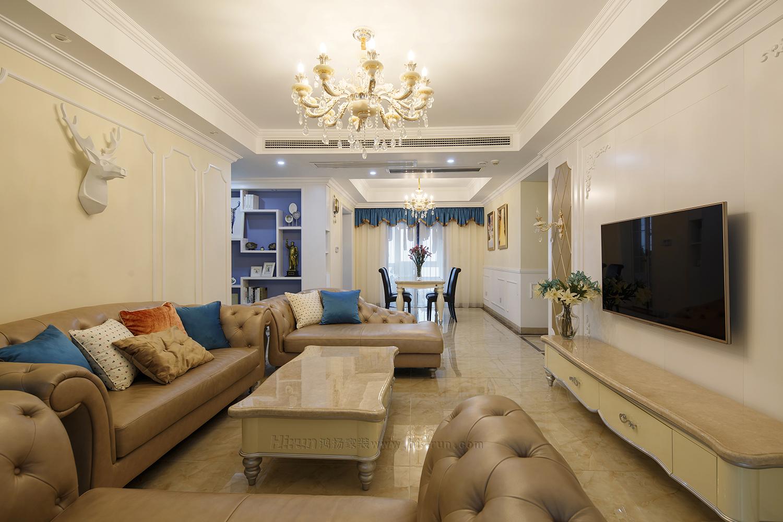 客厅图片来自鸿扬家装武汉分公司在万锦江城之白色欧风的分享
