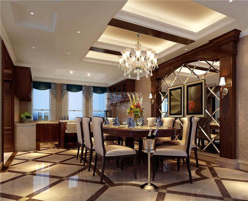 景源名墅 申远 别墅 装修 欧式 张咏 餐厅图片来自用户5616949510在景源名墅  欧式风的分享