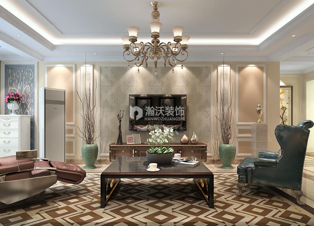 欧式 整体家装 奥北公元 卧室图片来自河北瀚沃装饰在奥北公元180㎡欧式案例的分享