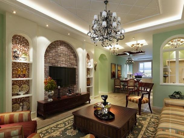 混搭 三居 田园 美式 嘉年华装饰 优雅家居 保利时代 130 客厅图片来自武汉嘉年华装饰在体验天地间的和谐和宁静的分享
