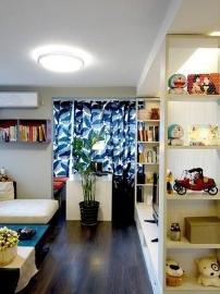 一室一厅55平黑白灰个性小户型