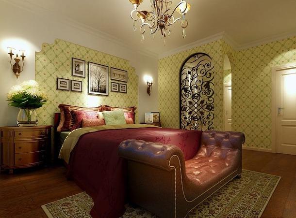 混搭 三居 田园 美式 嘉年华装饰 优雅家居 保利时代 130 卧室图片来自武汉嘉年华装饰在体验天地间的和谐和宁静的分享