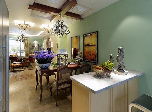 混搭 三居 田园 美式 嘉年华装饰 优雅家居 保利时代 130 餐厅图片来自武汉嘉年华装饰在体验天地间的和谐和宁静的分享