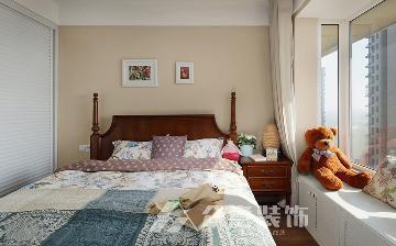 龙湖水晶城100平三居室美式风格