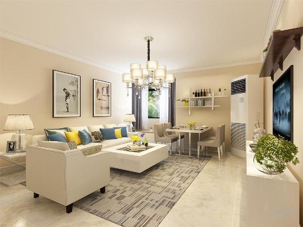 配搭格灰花纹地毯,窗帘结合家具的颜色为浅灰色,墙面运用的是奶咖色,电沙发背景请运用挂画的形式。
