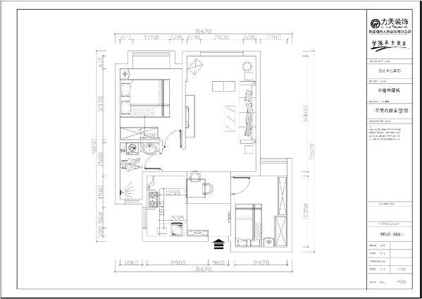 本案为中建幸福城,本例户型为两室两厅一厨一卫的户型,使用面积为80㎡,环境优美,为一三口之家为依据进行设计的,突出温馨且不是时尚质感