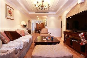 93平米新中式温馨家朦胧的时尚