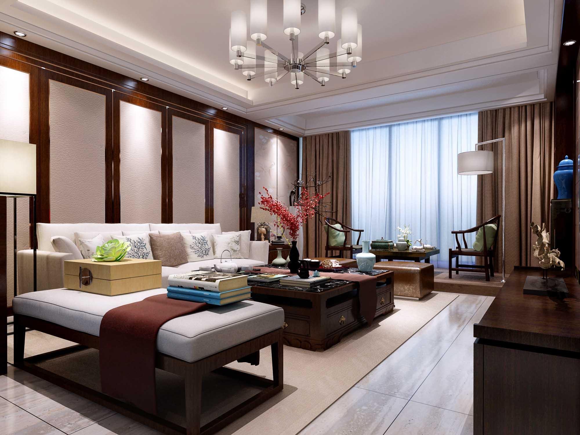 三居 中式 客厅图片来自链连妞妞在景和园的分享