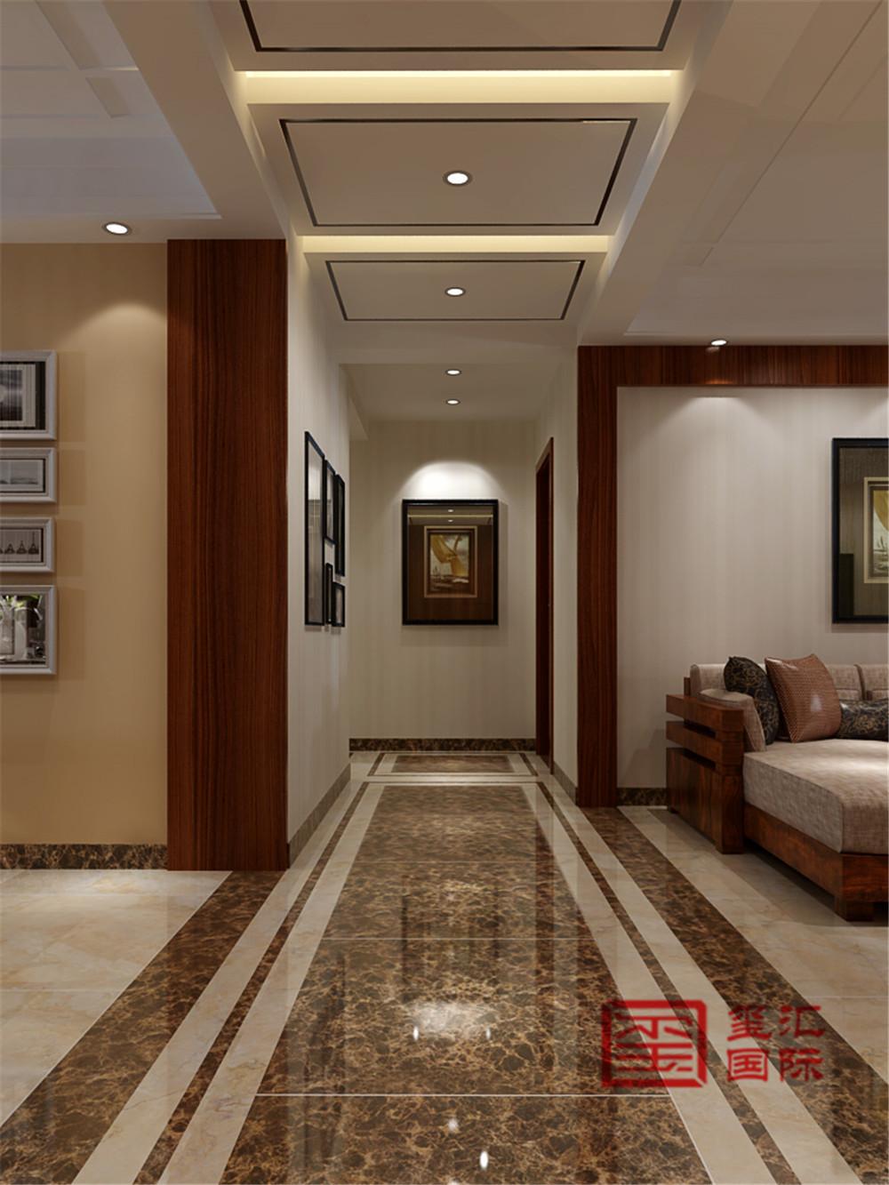 简约 玺汇国际 现代 三居 玄关图片来自河北玺汇国际装饰公司在国仕山188平现代风格的分享