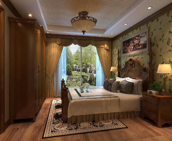 主卧室选用白色作為空间主色调,透过别出心裁的设计元素,点缀出新古典的浪漫轻盈。