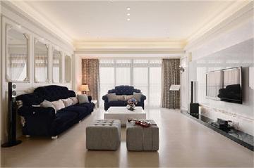 优雅加分的132平新古典三居室