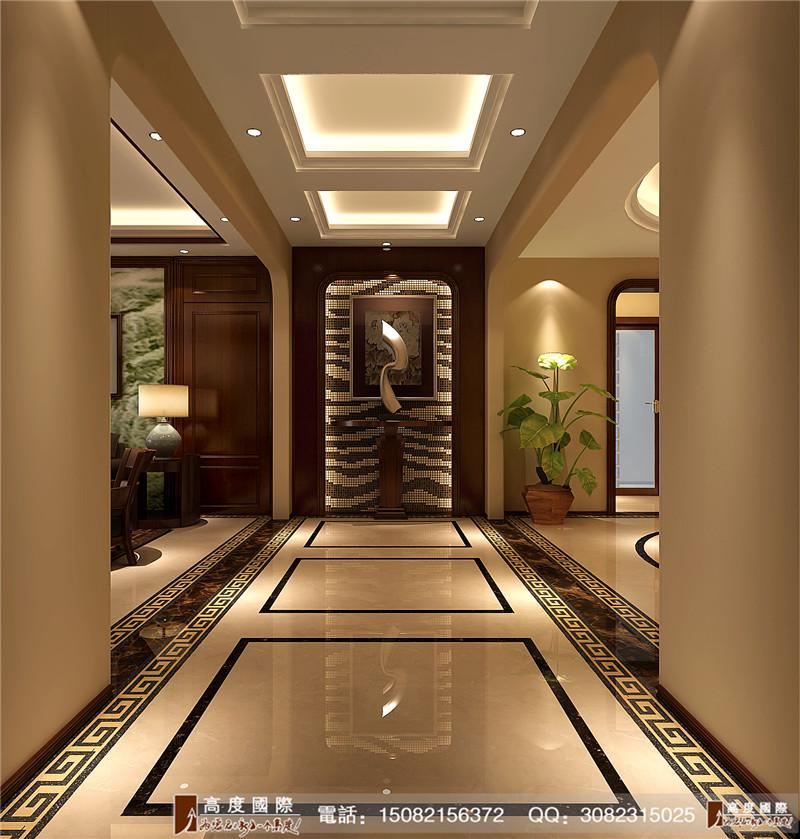 高度国际 新中式风格 别墅装修 成都装修 好的装修 玄关图片来自成都高端别墅装修瑞瑞在新中式风格-----高度国际装饰的分享