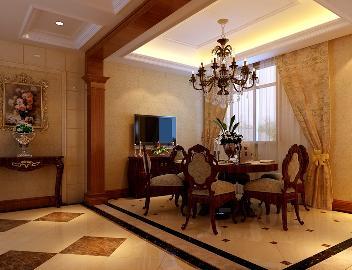 金色漫香林小区178平新古典风格