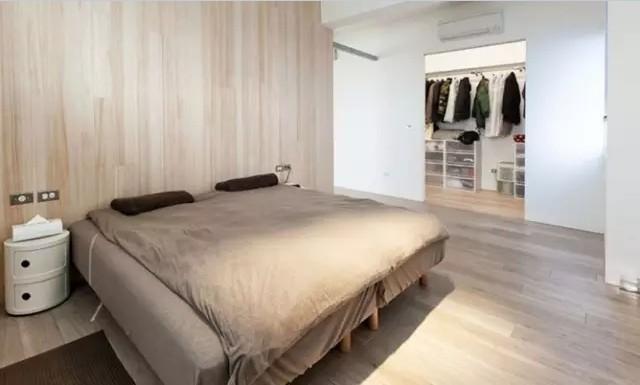 简约 一居 小户型 卧室图片来自实创装饰上海公司在59㎡极简原木一居的分享