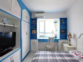 地中海 三居 收纳 旧房改造 白领 小资 儿童房图片来自沙漠雪雨在100平米地中海蔚蓝风情三居室的分享