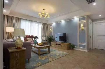 美式小清新风格117平三居室装修