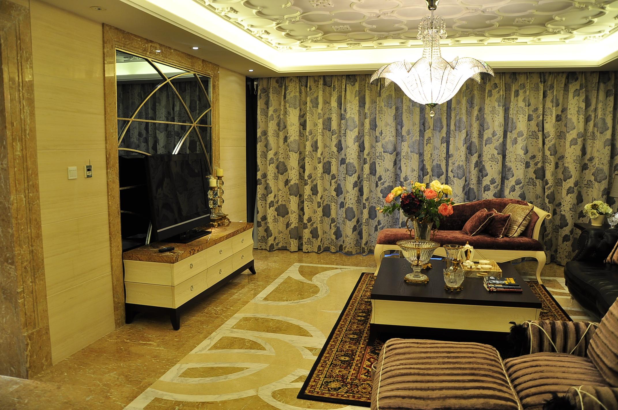 港式 雅致 白领 客厅图片来自九鼎建筑装饰工程有限公司成都分在212平经典港式情调的分享