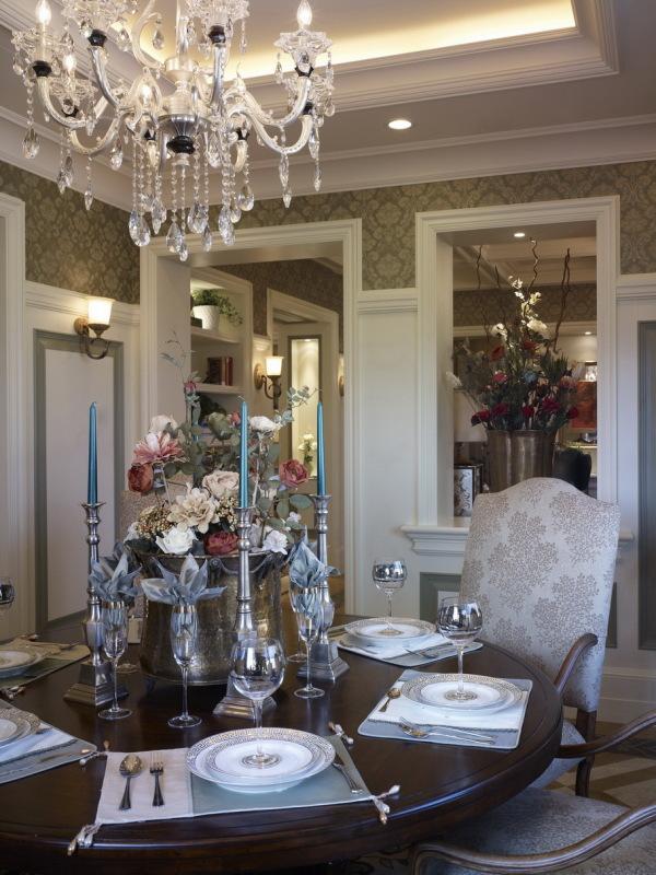 混搭风 古典情怀 品质感 餐厅图片来自九鼎建筑装饰工程有限公司成都分在224平的古典混搭风的分享