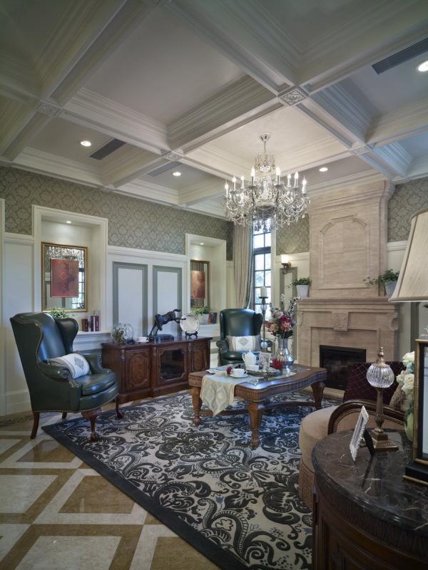 混搭风 古典情怀 品质感 其他图片来自九鼎建筑装饰工程有限公司成都分在224平的古典混搭风的分享