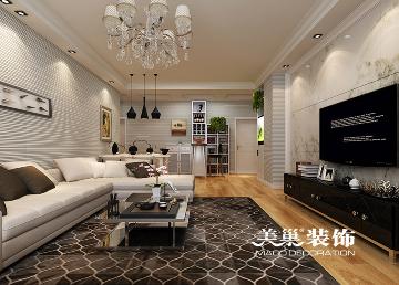 东岸尚景140平三室现代简约装修