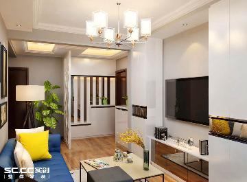 绿化小区80平两居室现代风格美家