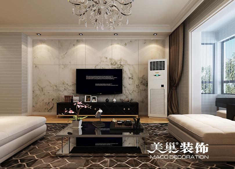 三居 简约 小资 白领 客厅图片来自河南美巢装饰在东岸尚景140平三室现代简约装修的分享