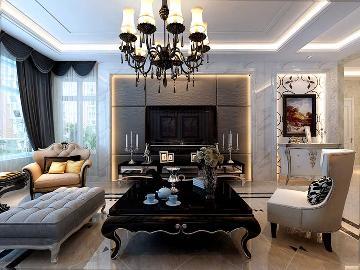 80平米两室一厅欧式风格装修