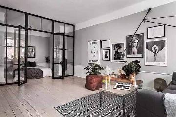55平米北欧风格一居室装修