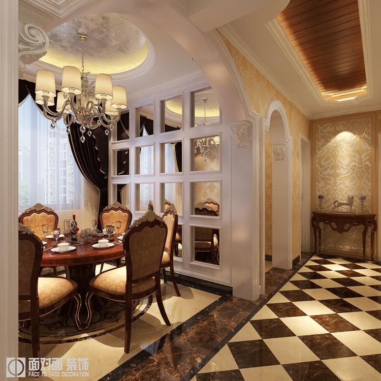 古典欧式 三居 白领 收纳 80后 小资 餐厅图片来自武汉一号家居在常青二分之一城127平古典欧式的分享