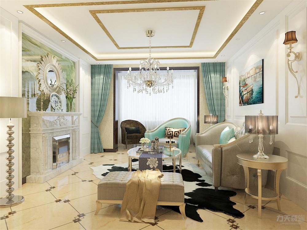 客厅图片来自阳光力天装饰在欧式 奥莱城  109㎡的分享