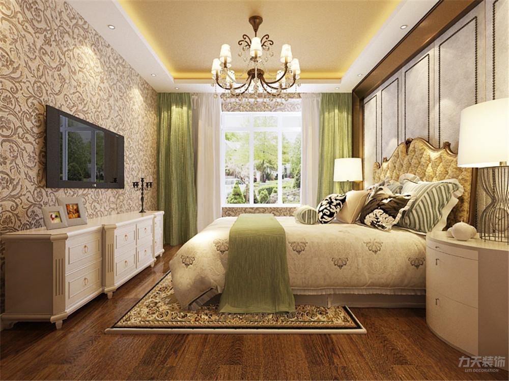 卧室图片来自阳光力天装饰在欧式 奥莱城  109㎡的分享
