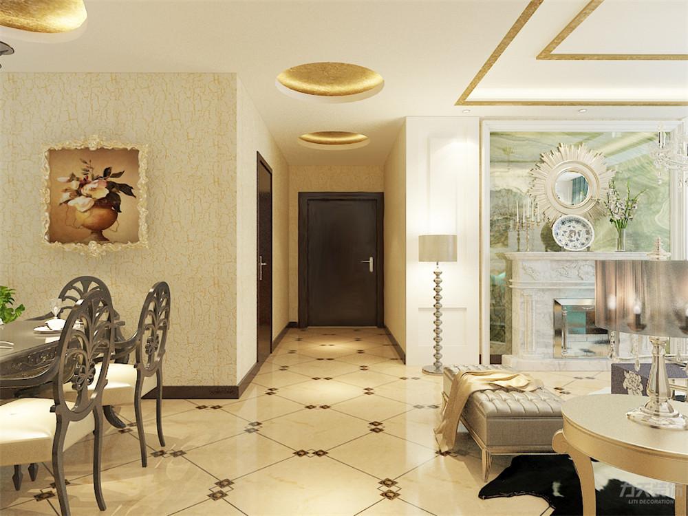 玄关图片来自阳光力天装饰在欧式 奥莱城  109㎡的分享