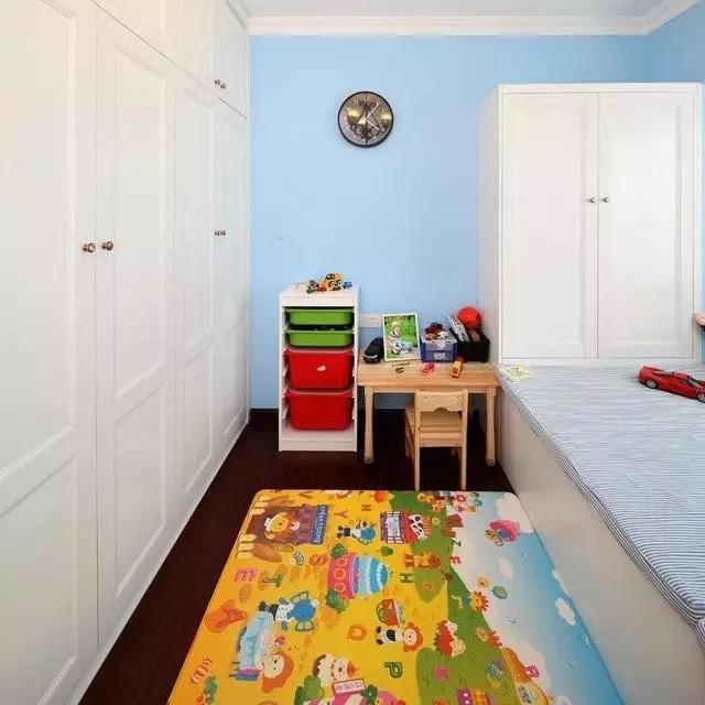 二居 地中海 客厅 60平 旧房改造 卧室 儿童房 蓝色 白色 儿童房图片来自实创装饰晶晶在62平地中海,多种功能一步到位的分享