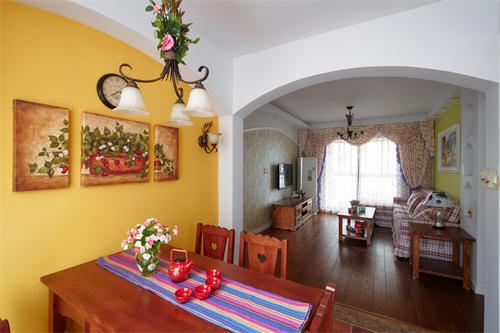 田园 套房 三居 白领 小资 餐厅图片来自爱奥尼典石装饰在华润幸福里-田园风格别致套房的分享