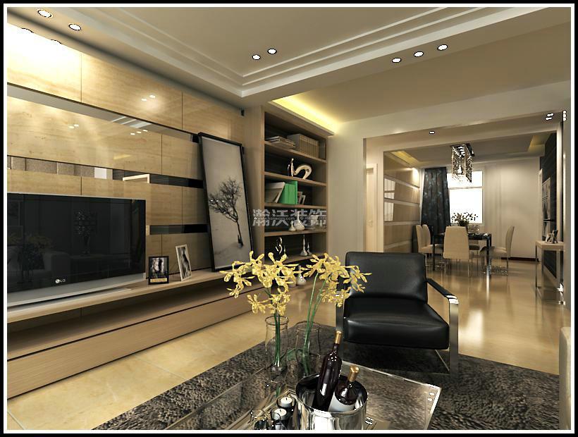现代 四居 整体家装 客厅图片来自河北瀚沃装饰在星河盛世171㎡现代风格案例的分享