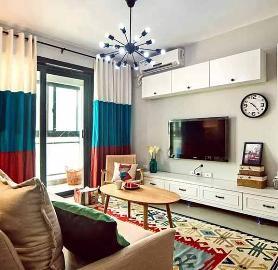 84平米北欧风格两室两厅装修