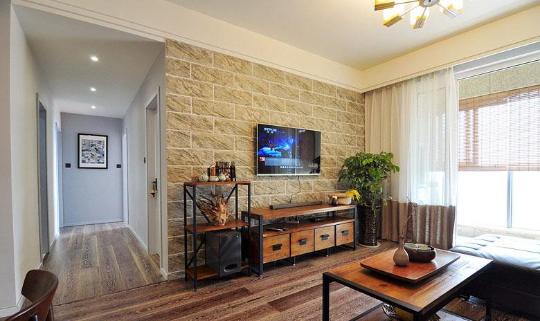 客厅图片来自家装大管家在素净又通透 89平简约时尚小三房的分享
