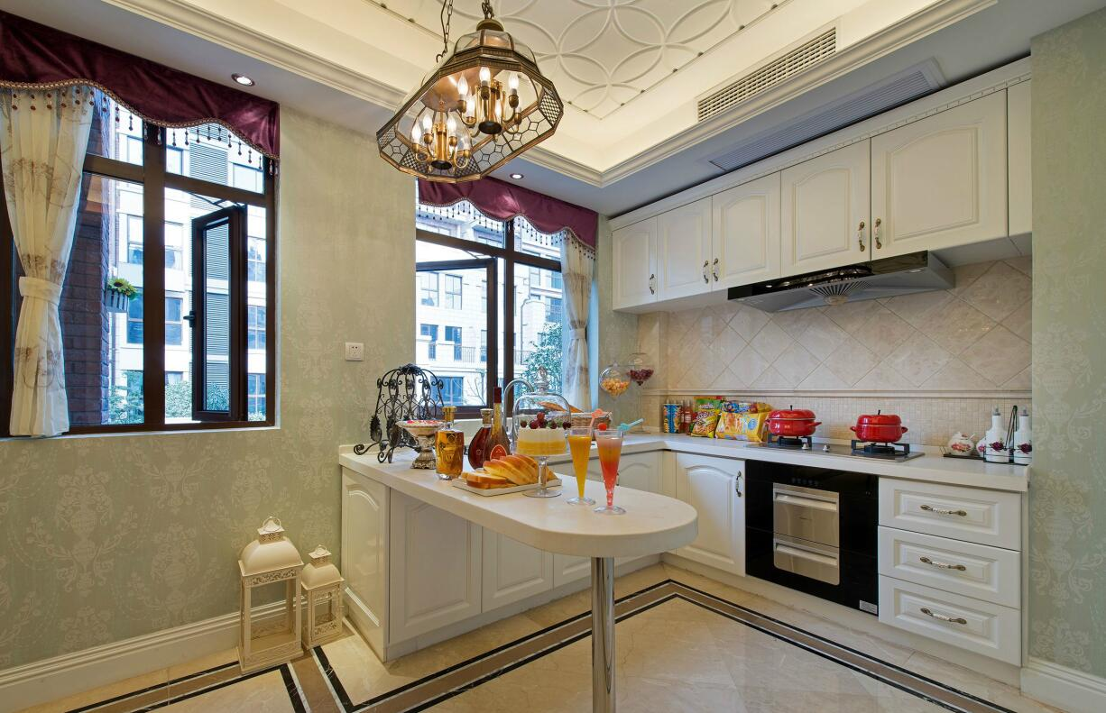 简约 欧式 田园 三居 别墅 白领 二居 混搭 旧房改造 厨房图片来自紫禁尚品国际装饰高晓媛在简单温馨的欧式风格的分享