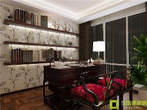 小资 二居 中式 生活家家居 新中式 中国风 新古典 书房图片来自天津生活家健康整体家装在融科瀚棠99的分享